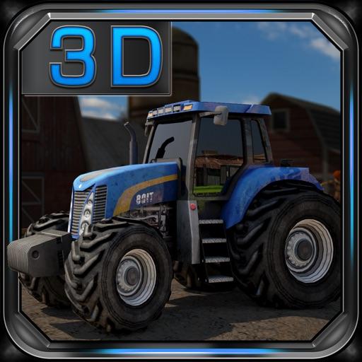 Сельскохозяйственный трактор драйвер 3D Автостоянка