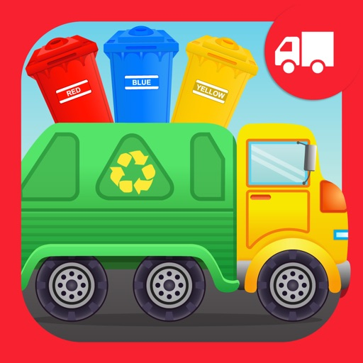 Colors Garbage Truck Free - an alphabet fun game for preschool kids learning colors and love Trucks and Things That Go