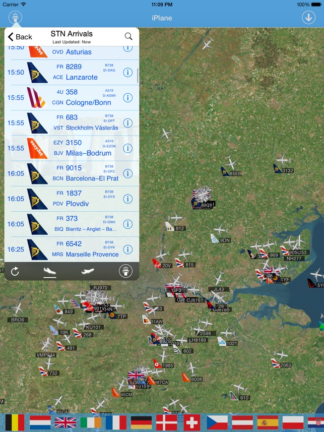 London Stansted Airport iPlane Flight