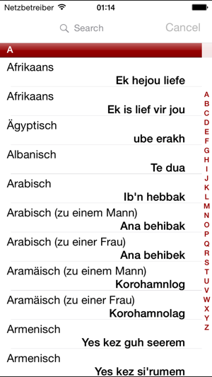 I Love You In Many Languages On The App Store