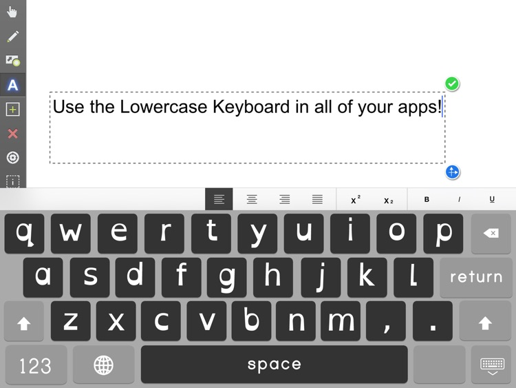 Lowercase Keyboard