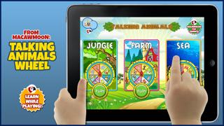 Screenshot of Animali Parlanti - Gira la Ruota e ascolta il suono degli animali, impara le lettere - Alfabeto prescolare - Macaw Moon1
