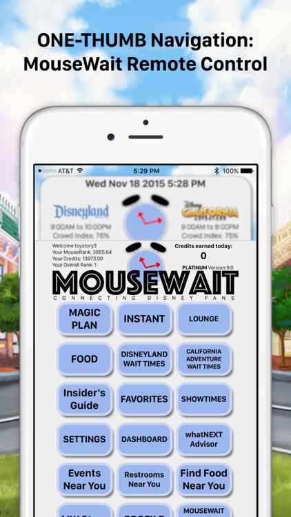MouseWait for Disneyland Wait Times Platinum Insider's Guide to Disneyland screenshot-3