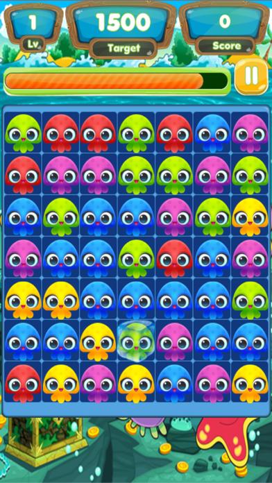 Jellyfish Cute Match Link Mania Soda Saga : 2d Puzzle Game