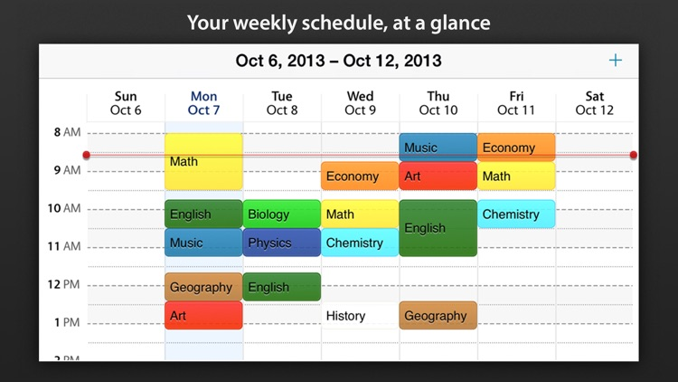 school timetable apps for ipad