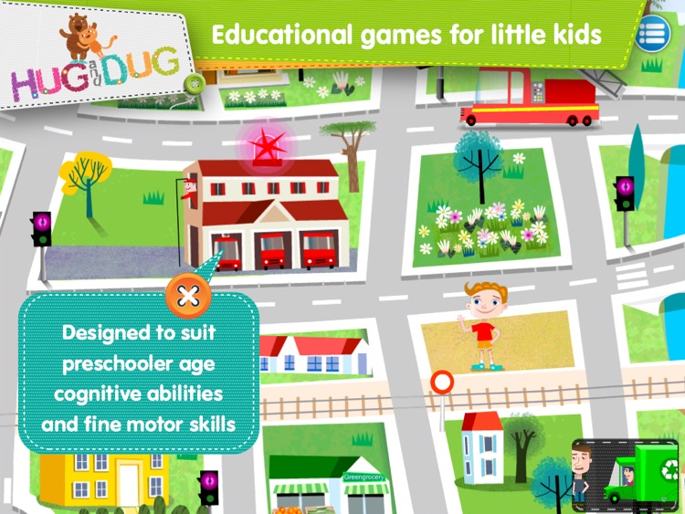 Little Town Explorer -  HugDug educational activity game for little kids. screenshot-4