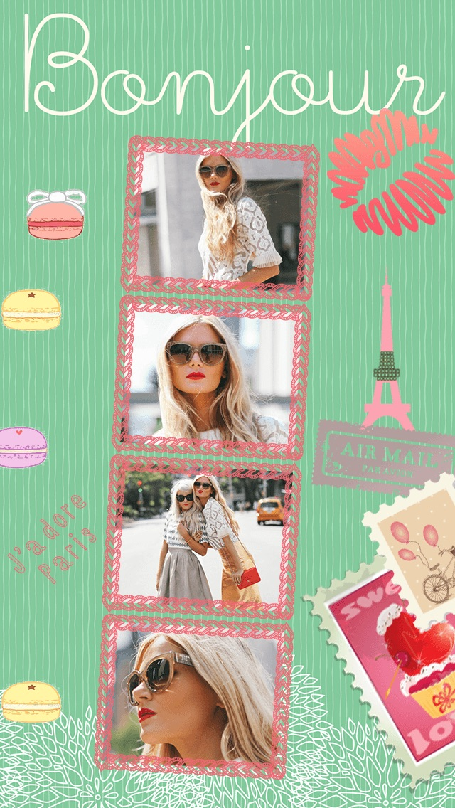 Paris Cam - The Chic arty love Foto Collage Kamera for a beautiful scrapbook selfies pic in France-3