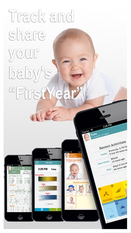 FirstYear - Baby feeding timer, sleep, diaper log
