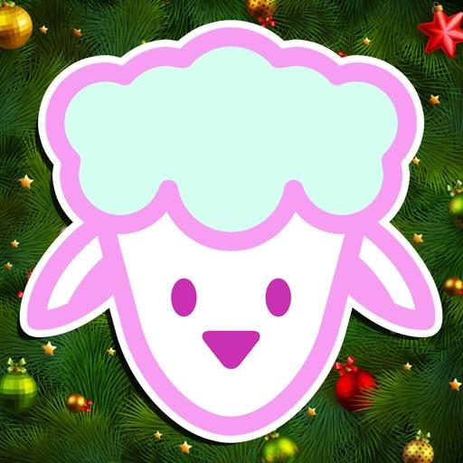 羊羊贴圣诞