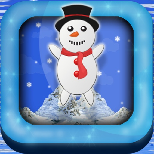 Snow-Man Christmas Holiday North Pole Frosty Town Jump iOS App
