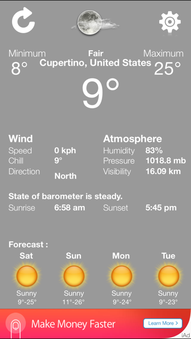 weather exact condition - accurate and updated local forecast applicationのおすすめ画像4