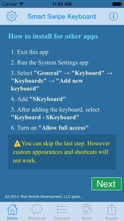 Smart Swipe Keyboard Pro for iOS 8 (Full) screenshot-4