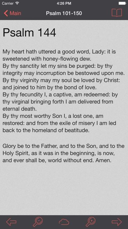 Catholic Psalter of the Blessed Virgin Mary Lite