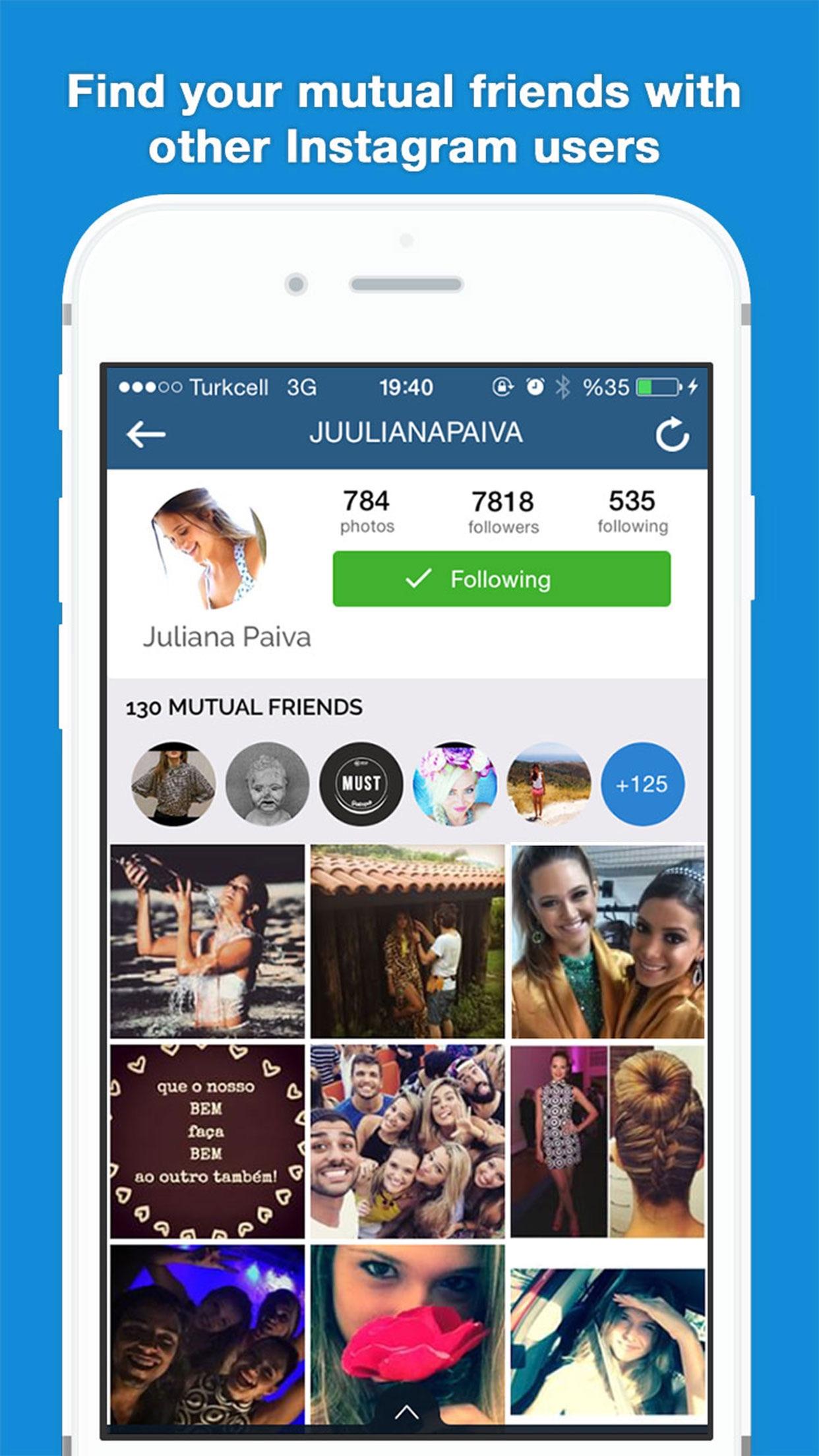 MutualFriends for Instagram Screenshot