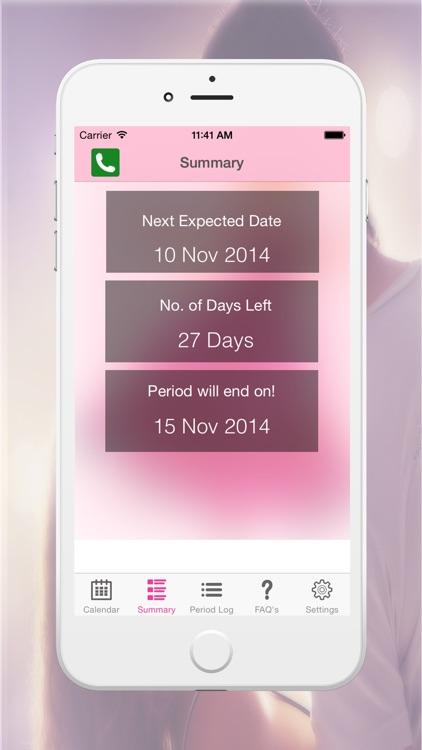 Period Logs Diary - Period Tracker, Menstrual Calendar & Ovulation / Fertility Diary
