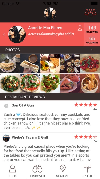 LiveDish : NYC's premier app for restaurant reviews, food photos, and menus.