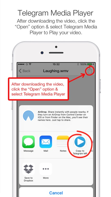 Telegram Media Player - Video & Movie Player for Telegram Messenger screenshot-4