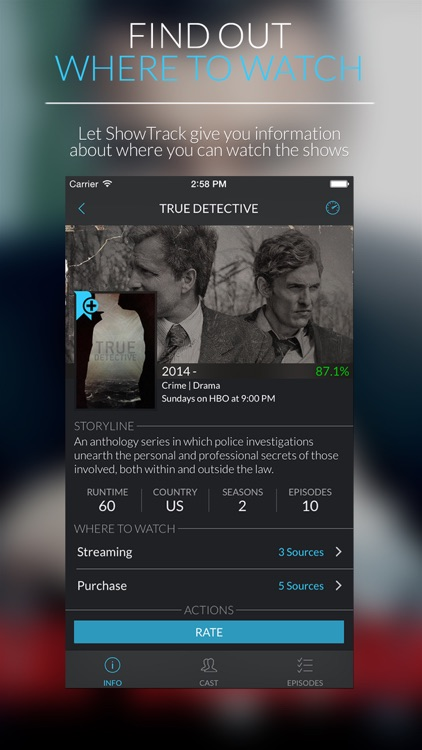 ShowTrack - Find, manage and track TV shows