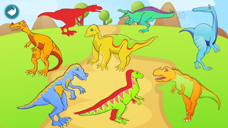 Dinosaur Shape Puzzle - Preschool and Kindergarten Kids Dino Educational Early Learning Adventure Game for Toddlers screenshot-3