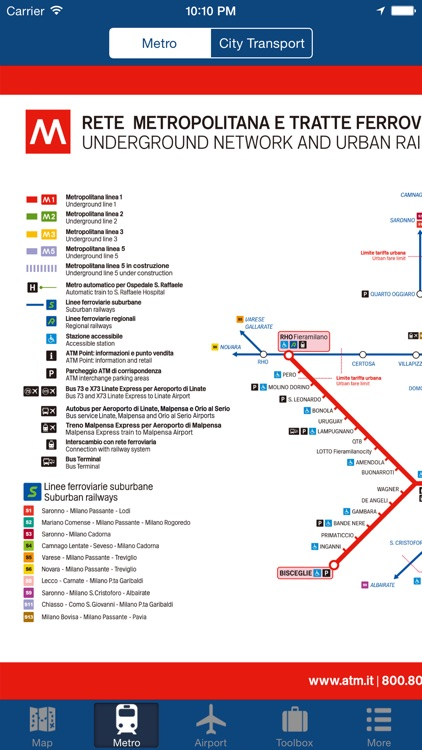 Milan Offline Map - City Metro Airport