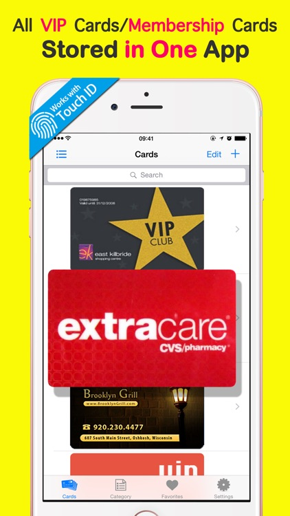 Premium VIP Cards Membership Manager - Store Loyalty Card & Keep Coupon.s Secure Wallet Vault screenshot-0