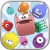 Cute Monster Heroes Match Threes Puzzle Game