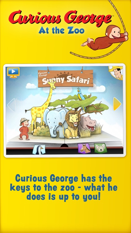 Curious George: Zoo Animals screenshot-0