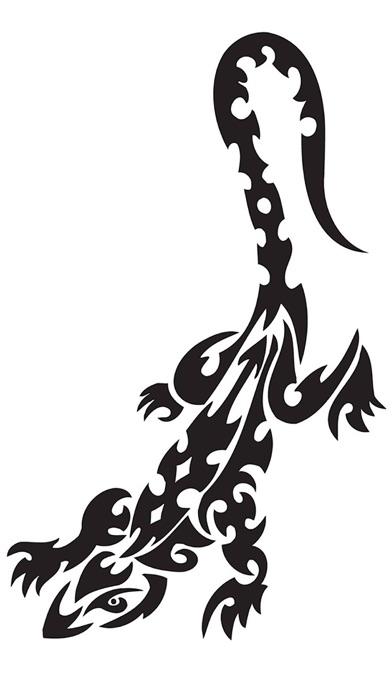 5万入れ墨 - ゴールドエディション:スカル、ドラゴン、動物、捕食者、モンスター ScreenShot2