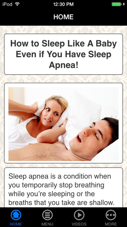 Natural Apnea Remedies - Stop Sleep Disorder & Snoring screenshot-0