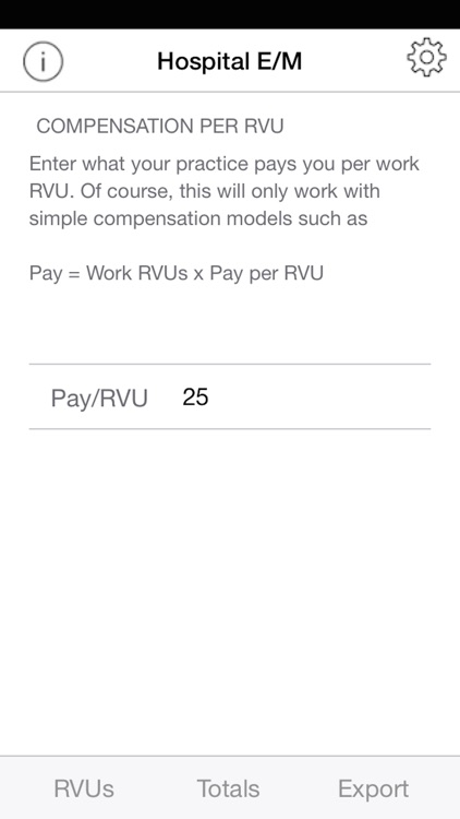 iRVU: Hospital - Inpatient physician productivity as RVUs, charges, and compensation screenshot-3