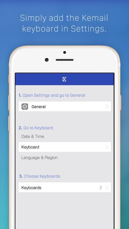 Kemail — keyboard to paste email addresses screenshot-4