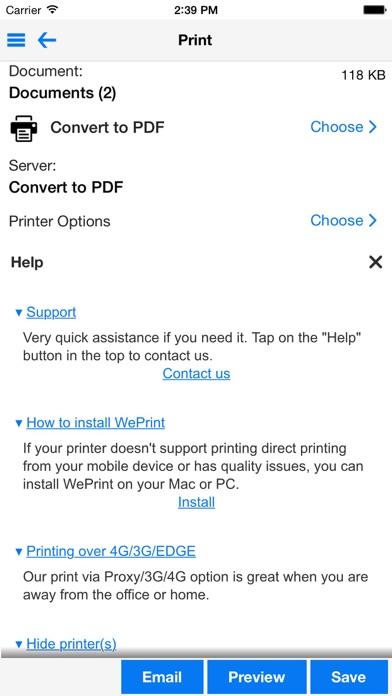 PrintDirect - PDF/印刷のスクリーンショット2