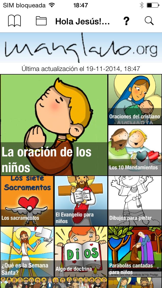 Hola Jesús! Rezar con los niños. Screenshot on iOS