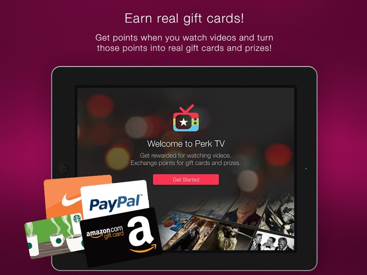 Perk TV - Get Gift Card Rewards by Watching Videos screenshot-0