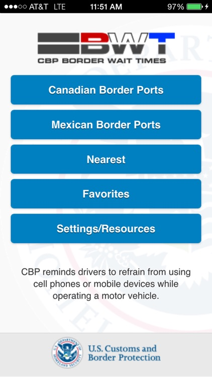 CBP Border Wait Times screenshot-0