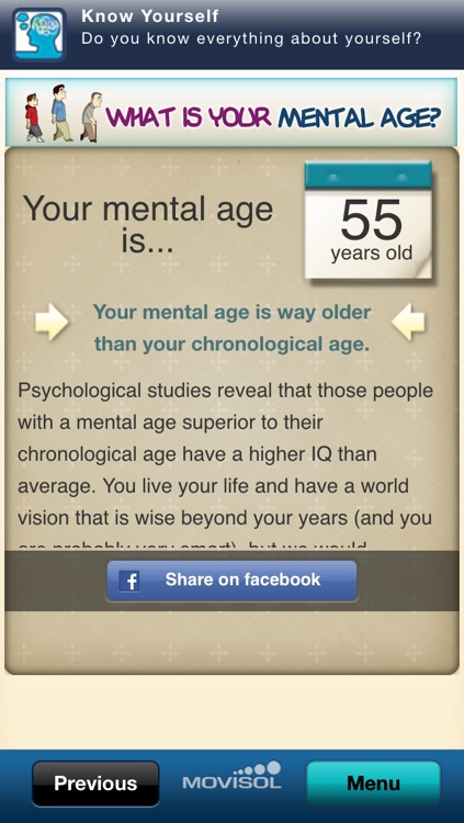 What is your mental age?: discover how old your mind is screenshot-3
