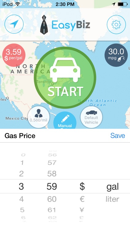 EasyBiz Mileage Tracker - Log miles and expenses for business tax deductions