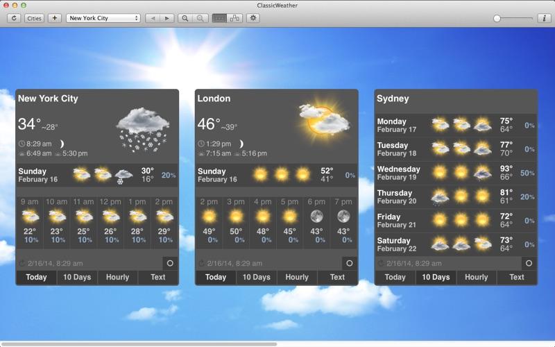 天气应用 ClassicWeather for Mac