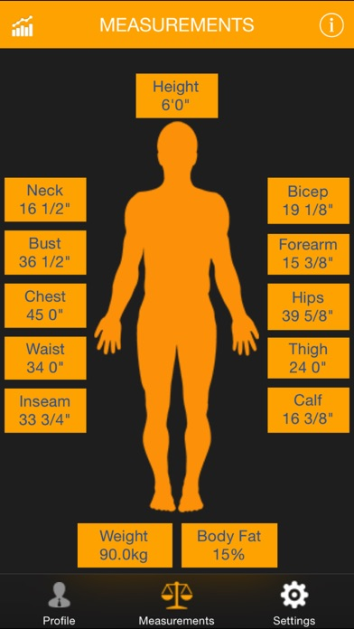 My Size - BMI, Weight... screenshot1
