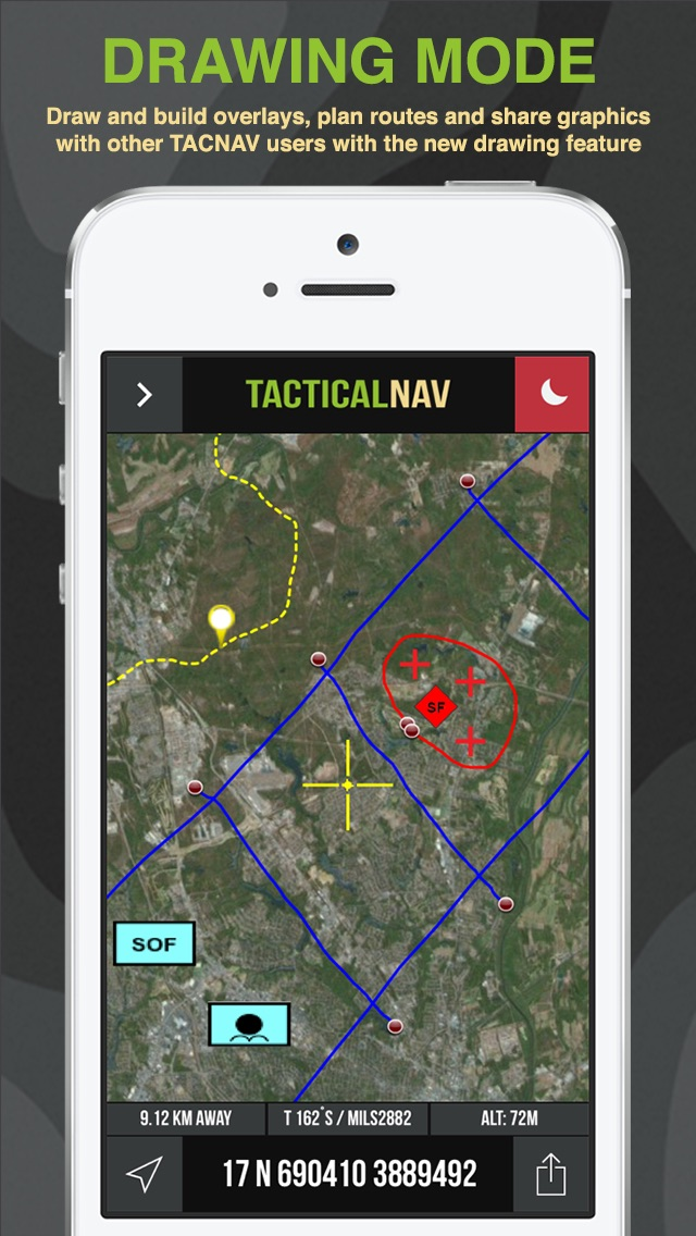 Tactical NAV - GPS Navigation App For Military and First Responders app image