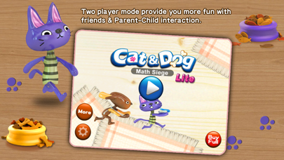 Cat & Dog - Math Siege Educational Game for kids Screenshot on iOS