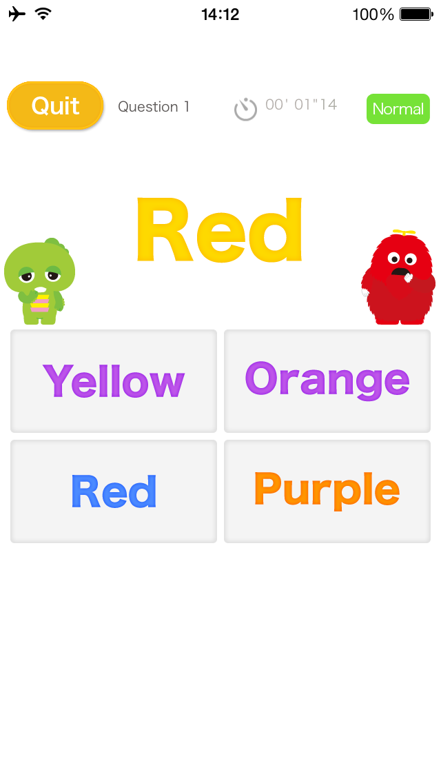 What color are the letters? (Play & Learn! Series) [U-Kids] screenshot three