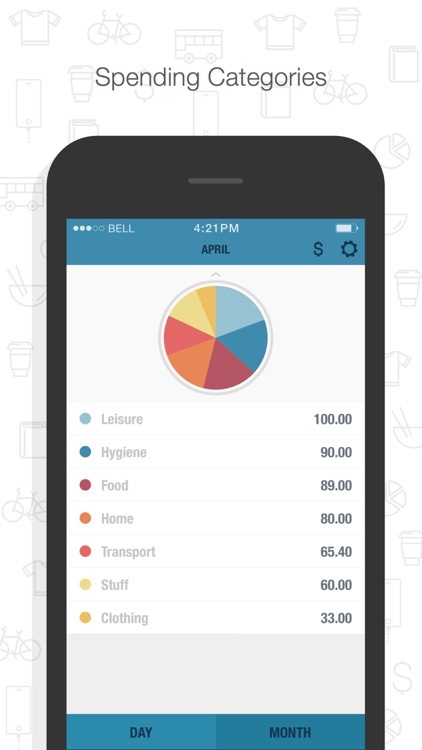 BUDGT - monthly finances, day by day screenshot-3