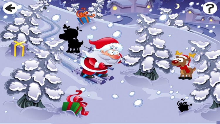 Christmas Puzzle For Small Kids: Tricky Game With Santa-Claus and Snow-Man