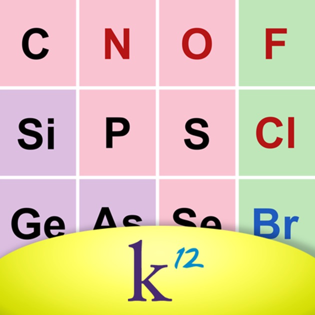 K12 periodic table of the elements on the app store urtaz Choice Image