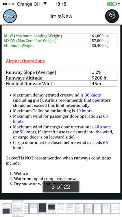 A320 Limits