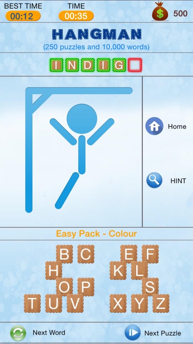 Hangman - Search and Crack Hidden Word Puzzle Screenshot