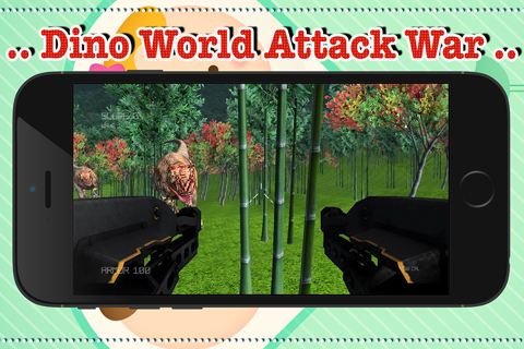 dinosaur world attack war - náhled