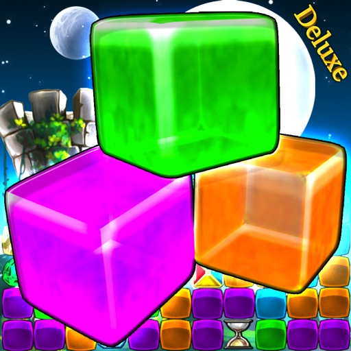 Cube Crash 2 Deluxe - The Default Match-3 Same-Game Puzzle