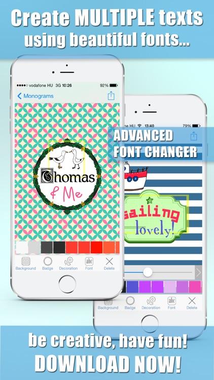 iMonogram - Monograms Creator DIY screenshot-4